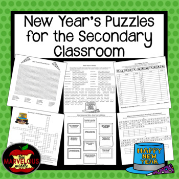 New Year's Puzzles for Grades 4-12
