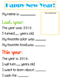 New Year's Question Printable