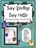 New Year's Quick Write Activity