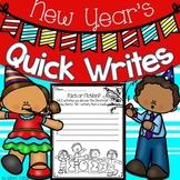 New Year's Quick Writes Writing Activities 2019
