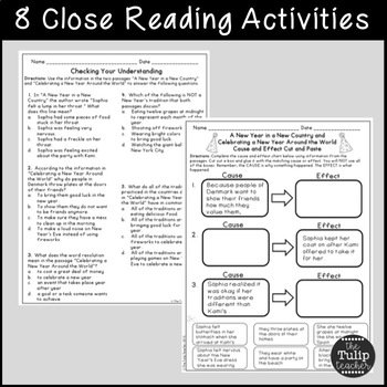 New Year's Reading Comprehension Paired Passages