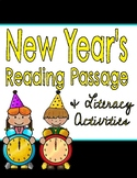New Year's Reading Comprehension Passage & Questions!