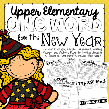 New Year's 2019 Reading Comprehension Passages, Writing Prompt, and Activity