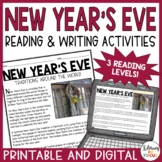 New Year's Reading Comprehension Passages and Activities