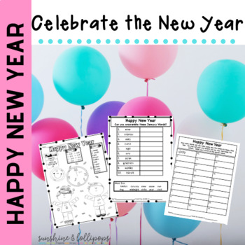 New Year's Ready to Print and Use Activities 2017 Edition