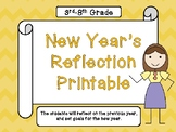 New Year's Reflection Printable
