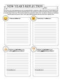New Year's Reflective Essay planning page