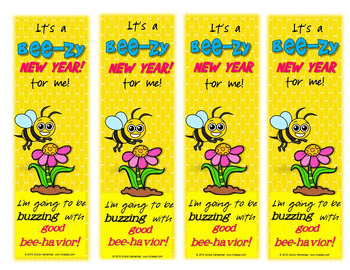 New Year's Resolution 2017 Bookmarks - Bee-zy Bee-havior Bee!