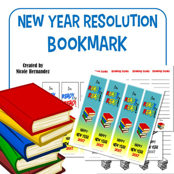 New Year's Resolution 2017 Bookmarks - READY to READ