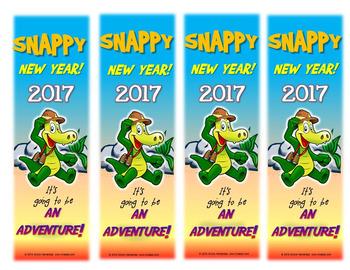 New Year's Resolution 2017 Bookmarks - Crocodile Adventure!