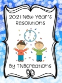 New Year's Resolution Writing Template 2019