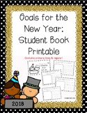 New Year's Resolution Writing 2018: Student Book Printable