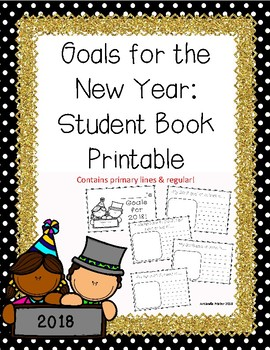 New Year's Resolution Writing 2018: Student Book Printable Activity