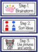 New Year's Resolution 4 Square Writing Prompt for Kinderga