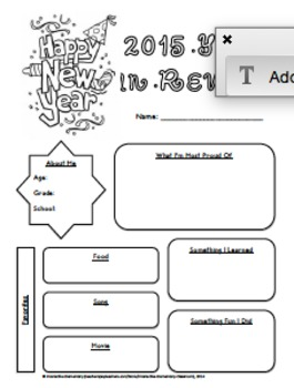 New Year's Resolution Activity Book- All Grades!