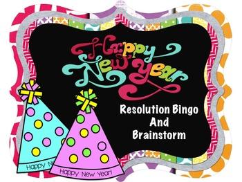 New Year's Resolution Bingo and Brainstorming