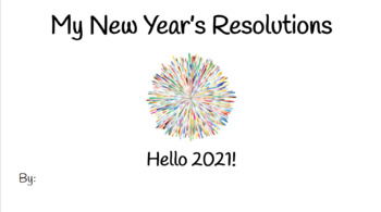New Year's Resolution Book - Special Education