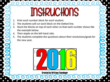 New Year's Resolution Booklet {Happy New Year 2016} EDITABLE