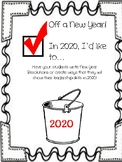 New Year's Resolution Bucket List Writing Activity