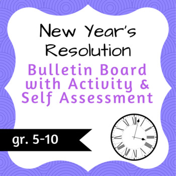 New Year's Resolution Bulletin Board Kit
