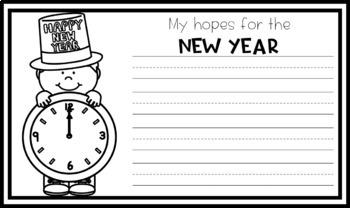 New Year's Resolution Craftivity