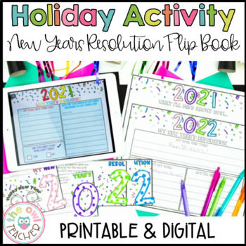 New Years Resolution and Goals Flip Book