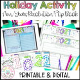 New Years 2019 & 2020 Resolution and Goals Flip Book