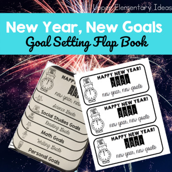 New Year's Resolution Goal Setting {2017 Flap book FREEBIE}