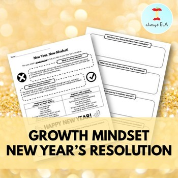 New Year's Resolution Growth Mindset Worksheet