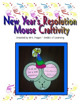 New Year's Resolution Mouse Craftivity