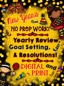 New Year's Resolution: NO PREP Reflection, Goal Setting, & Resolution Packet