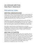 New Year's Resolution On Demand Writing