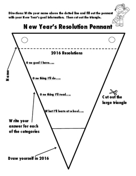 New Year's Resolution Pennant