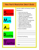 New Year's Resolution Smart Goals Math Reading Activity Pack