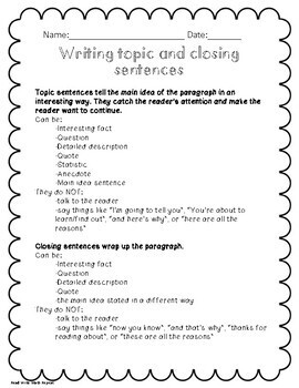 New Year's Resolution Step by Step Writing