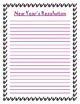 New Year's Resolution Template
