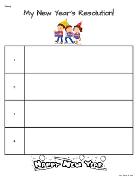 New Year's Resolution Writing - 5 Days of Activities!