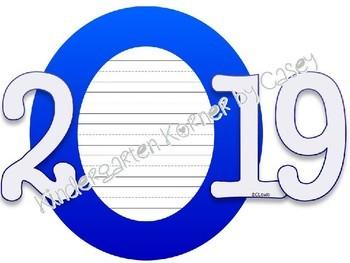New Year's Resolution Writing Bulletin Board Set 2019 K-5