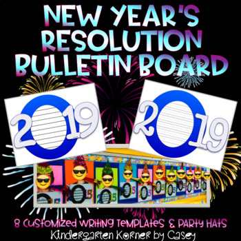 new years resolution writing bulletin board set 2019