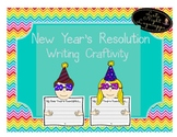 New Year's Resolution Writing Craftivity for 2018!