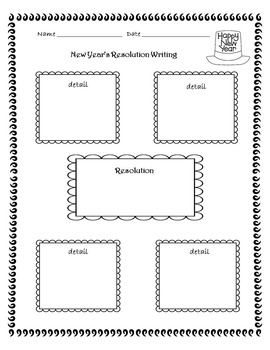 New Year's Resolution Writing Freebie