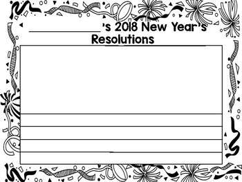 New Year's Resolution Writing and Craft