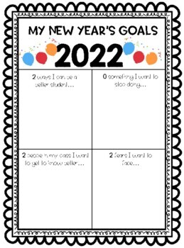 New Year's Resolution and Growth Mindset Activities