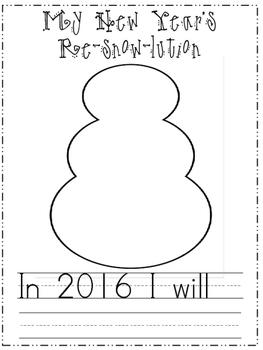 New Year's Resolution snowmen