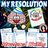 New Years Resolution Activity 2019 Using Growth Mindset and Structured Writing