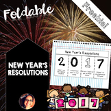 New Year's Resolutions 2017 Foldable