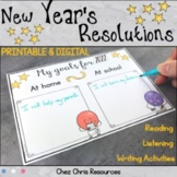 Reading, Listening and Writing Activities - New Year's Resolutions