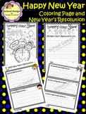 New Year's Resolutions 2017 and Coloring Page (School Design)