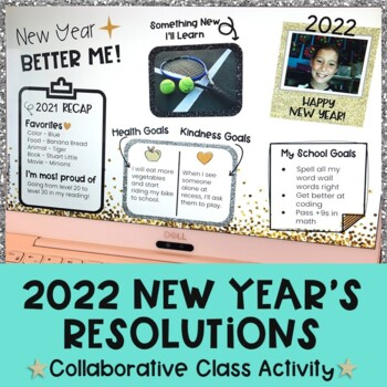 Digital New Years Resolutions 2020| New Years Activities 2020| Google Classroom™
