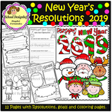 New Year's Resolutions 2019 - Coloring Pages - Goals (School Designhcf)